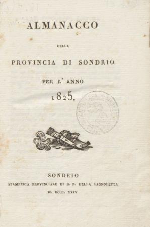 Almanacco della provincia di Sondrio per l'anno