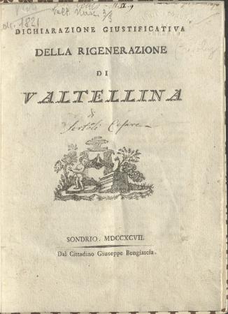 Dichiarazione giustificativa della rigenerazione di Valtellina