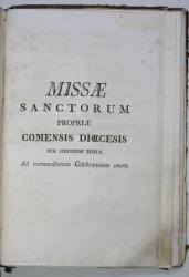 Missae sanctorum propriae Comensis dioecesis per ordinem editae ad commodiorem celebrantium usum